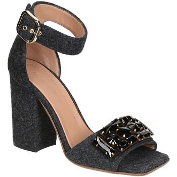 Scarpe Donna Sandali Marni Sandali tacco alto  in feltro e cristalli Grigio scuro