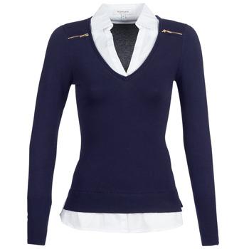 Abbigliamento Donna Maglioni Morgan MYLORD Blu / Bianco