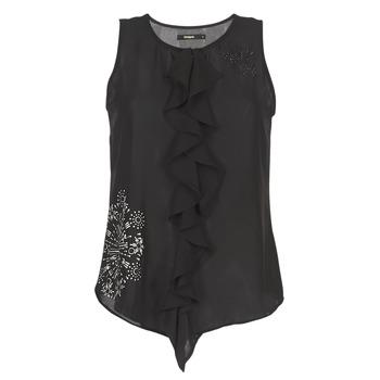 Abbigliamento Donna Top / T-shirt senza maniche Desigual POALDAOR Nero