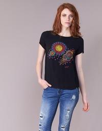 Abbigliamento Donna T-shirt maniche corte Desigual NAIKLE Nero