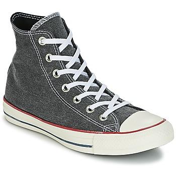Scarpe Sneakers alte Converse Chuck Taylor All Star Hi Stone Wash Grigio