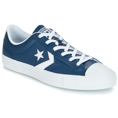 Sneakers Scarpe uomo Converse Star Player Ox Leather Essentials Blu Cuoio...