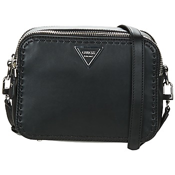 Borse Donna Tracolle Guess SAWYER CROSSBODY TOP ZIP Nero