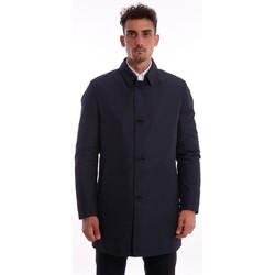 Abbigliamento Uomo Cappotti Schneiders IMPERMEABILE BLU IN TESSUTO TECNICO Blue