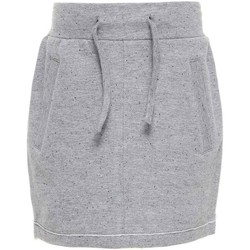 Abbigliamento Bambina Gonne Name It Kids NITKADDY BRU SWE SLIM SKIRT GREY W17 Grigio