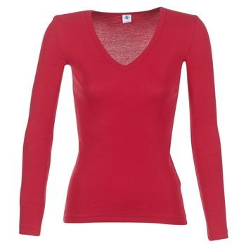 Abbigliamento Donna T-shirts a maniche lunghe Petit Bateau  Rosso