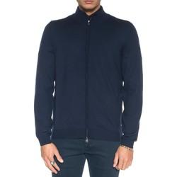 Abbigliamento Uomo Gilet / Cardigan Boss Cardigan zip con doppio cursore blu