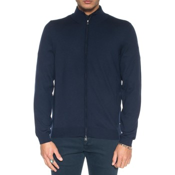 Abbigliamento Uomo Gilet / Cardigan Hugo Boss Cardigan zip con doppio cursore Blu Lana Uomo blu