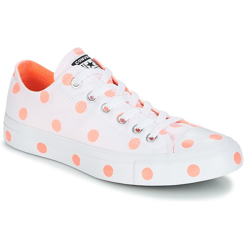 Converse Chuck Taylor All Star-Ox Bianco / Arancio  Scarpe Sneakers basse Donna 56