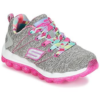 Scarpe Bambina Sneakers basse Skechers SKECH-AIR Grigio / Rosa