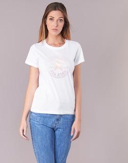 Abbigliamento Donna T-shirt maniche corte Converse CONVERSE CLEAR FOIL CHUCK PATCH CREW TEE Bianco