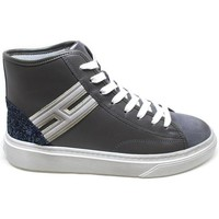 Scarpe Donna Sneakers alte Hogan HIGH-TOP SNEAKERS H342 PELLE GRIGIO, BLU, ARGENTO Grey