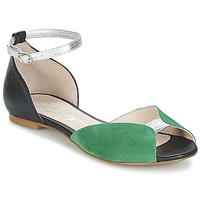 Scarpe Donna Sandali Betty London INALI Nero / Argento / Verde
