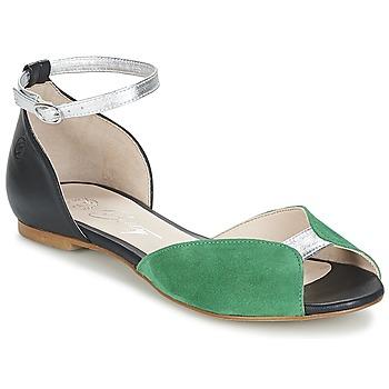 Scarpe Donna Sandali Betty London INALI Nero / Argento / Verde