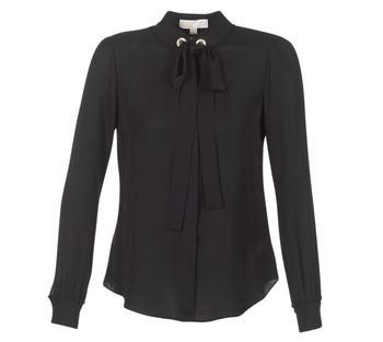 Abbigliamento Donna Top / Blusa MICHAEL Michael Kors GROMMET NK TIE BLSE Nero