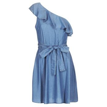 Abbigliamento Donna Abiti corti MICHAEL Michael Kors ONE SHLDR RUFFLE DRS Denim