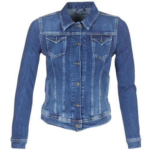 Abbigliamento Donna Giacche in jeans Pepe jeans THRIFT Blu / Medium