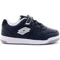 Scarpe Bambino Sneakers basse Lotto 1 - S9494 Scarpa Strappi + Elastico Bambino Blu Blu