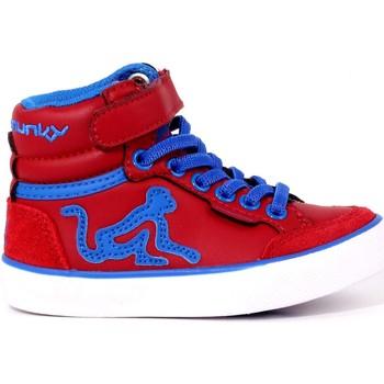 Scarpe Bambino Sneakers alte Drunkymunky 10 - 149-BOS VIT Scarpa Alta Bambino Rosso Rosso