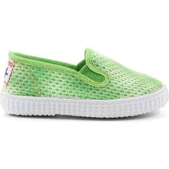 Scarpe Bambina Slip on Cienta 34 - 57029 Slip On Bambina Verde Verde