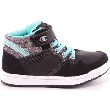 Scarpe Bambina Sneakers alte Champion 338 - S30986 Scarpa Strappi + Elastico Bambina Nero Nero