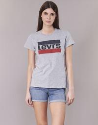 Abbigliamento Donna T-shirt maniche corte Levi's THE PERFECT TEE Grigio