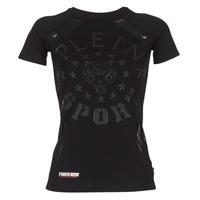 Abbigliamento Donna T-shirt maniche corte Philipp Plein Sport FORMA LINEA Nero
