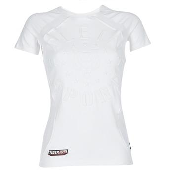 Abbigliamento Donna T-shirt maniche corte Philipp Plein Sport FORMA LINEA Bianco / Bianco