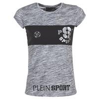 Abbigliamento Donna T-shirt maniche corte Philipp Plein Sport THINK WHAT U WANT Grigio