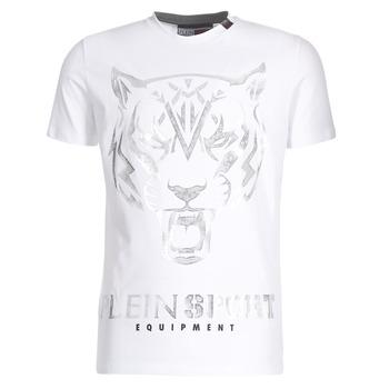 Abbigliamento Uomo T-shirt maniche corte Philipp Plein Sport EDBERG Bianco / Argento