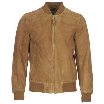 Abbigliamento Uomo Giacca in cuoio / simil cuoio Schott LC301 Cognac