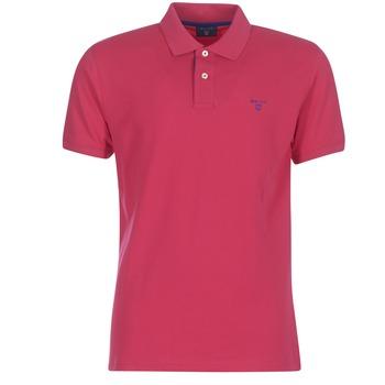 Abbigliamento Uomo Polo maniche corte Gant CONTRAST COLLAR PIQUE RUGGER Rosso