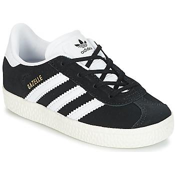 Scarpe Bambino Sneakers basse adidas Originals GAZELLE I Nero / Bianco