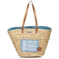 Borse Donna Tote bag / Borsa shopping Les Tropéziennes par M Belarbi AGAY Beige / Blu