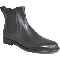 Scarpe Uomo Stivali Made In Italia Scarpe uomo beatles chelsea boots fondo vero cuoio antiscivolo NERO