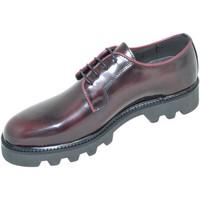 Scarpe Uomo Derby Malu Shoes Calzature uomo scarpe art.5342 stringata francesina liscia borde ROSSO