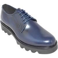 Scarpe Uomo Derby Malu Shoes Scarpe uomo calzature art.224 francesina in  abrasivato lucido b BLU