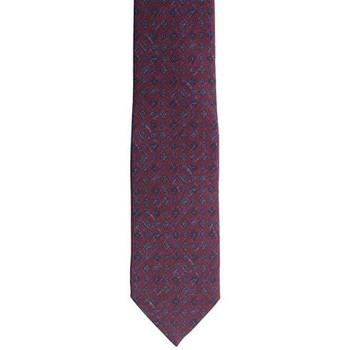 Abbigliamento Uomo Cravatte e accessori Holliday & Brown CRAVATTA IN SETA BORDEAUX CON FIORI Red