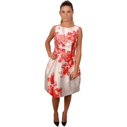 Abbigliamento Donna Abiti corti Allure White Elegant Dress with Red Flowers<BR/> 207200<BR/> Bianco