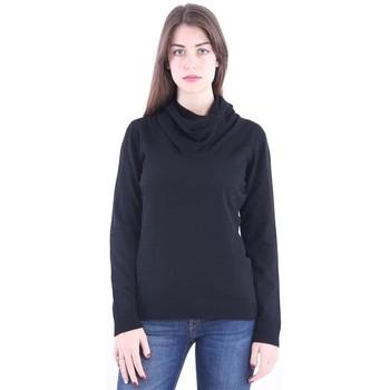 Abbigliamento Donna Maglioni White.7 MAGLIONE IN CASHMERE E LANA NERA Black