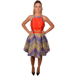 Abbigliamento Donna Abiti corti Allure Short Blue Orange&nbsp;Woman Drss Etnic Pattern<BR/> 202800<BR/ Arancio