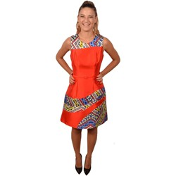 Abbigliamento Donna Abiti corti Allure Woman Short Orange Dress Etnic Pattern<BR/> 202900<BR/> Arancio