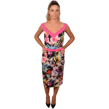 Abbigliamento Donna Abiti lunghi Allure Black Pink Woman Dress with Flower Print<BR/> 205700<BR/> Altri