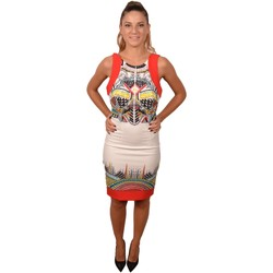 Abbigliamento Donna Abiti corti Allure White Orange Woman Dress with Pattern on the Front<BR/> 211800< Bianco