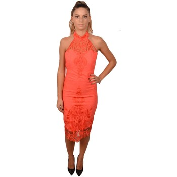 Abbigliamento Donna Abiti lunghi Allure Woman Coral Orange Dress with Lace<BR/> 223700<BR/> Altri
