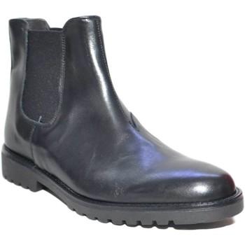 Scarpe Uomo Stivali Made In Italia Scarpe uomo beatles vero pelle nero elastico nero art:b2345 ant NERO
