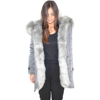 Abbigliamento Donna Parka K-Zell Parka giacca donna invernale impermeabile grigio donna con pell GRIGIO