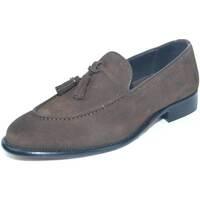 Scarpe Uomo Mocassini Malu Shoes Scarpe mocassini uomo art:elg10 marrone di camoscio con bon bon MARRONE