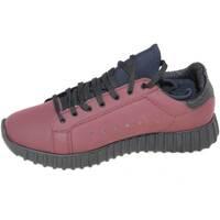 Scarpe Uomo Sneakers basse Malu Shoes Sneakers bassa uomo art.323 bordeaux pelle gommato con fondo run ROSSO
