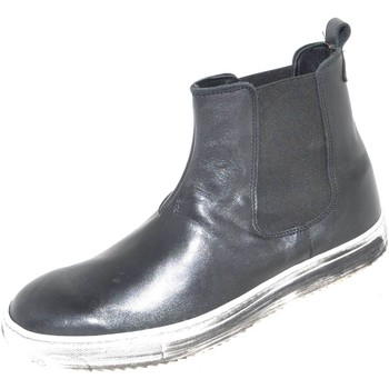 Scarpe Uomo Stivali Malu Shoes Scarpe uomo beatles art.443 made in italy  fondo effetto sporco NERO